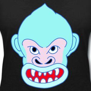 Blue Gorilla - Frauen T-Shirt mit V-Ausschnitt