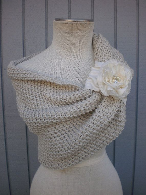bridal shawl capaletbolero shuolder cover  off white  by deniz03, $114.00