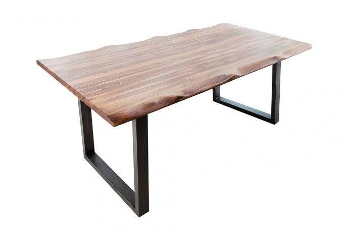 GENESIS - rustikt matbord i akacieträ med ram i industriellt järn
