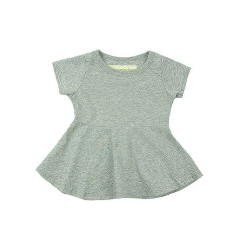 peplum top - mini mioche - organic infant clothing and kids clothes - made in Canada
