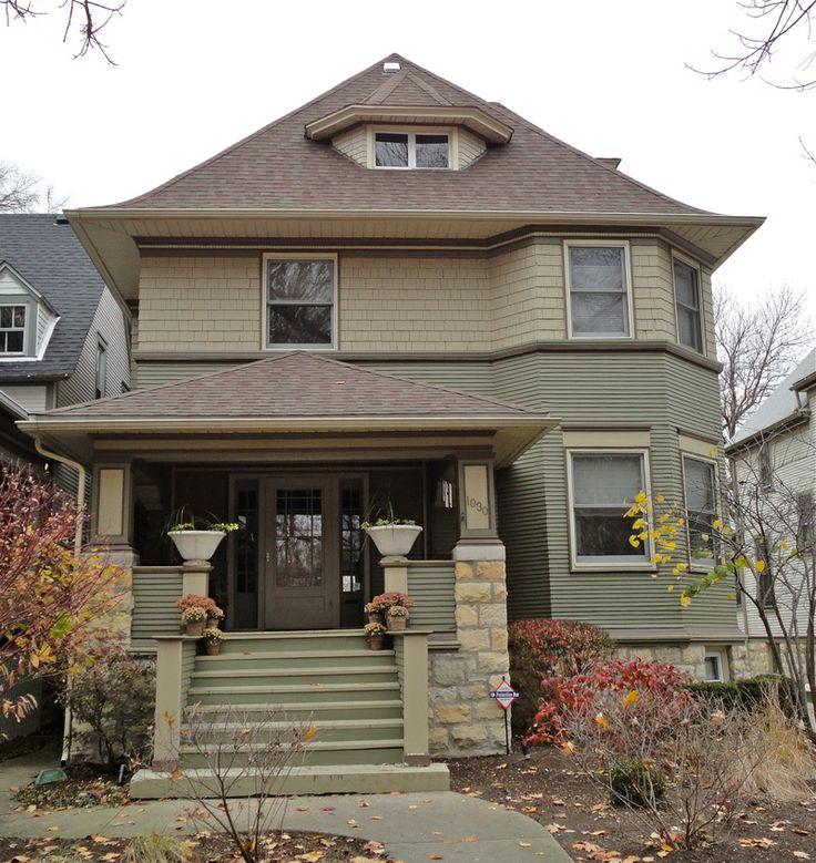 Francis Woolley House. 1893. Oak Park Illinois. Early Frank Lloyd Wright.