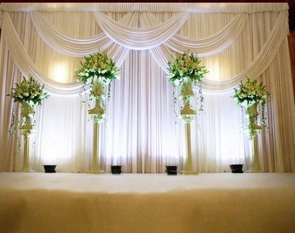 silk fabric wedding backdrop curtain