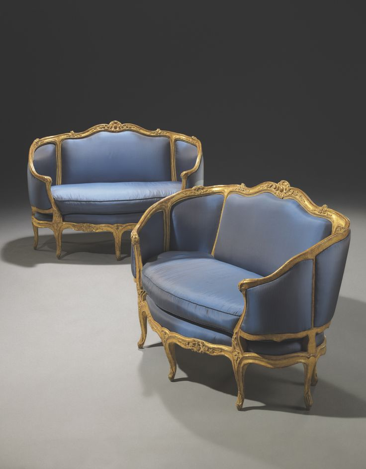 c1760 A PAIR OF LOUIS XV GILTWOOD CANAPES EN CORBEILLE BY SYLVAIN NICOLAS BLANCHARD, CIRCA 1760 Price realised USD 260,500