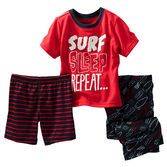 He has his priorities in order on these PJs. With shorts and pants, this set is perfect for beach trip packing.