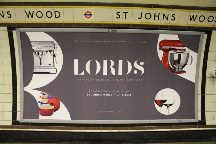 Have you seen us in St John's Wood Station?   We can't wait to welcome you to our beautiful new store in St John's Wood on Saturday 13th June at 9.00 am.  #underground #tubeads #advertising #sage #kitchenaid #lecreuset #riedel