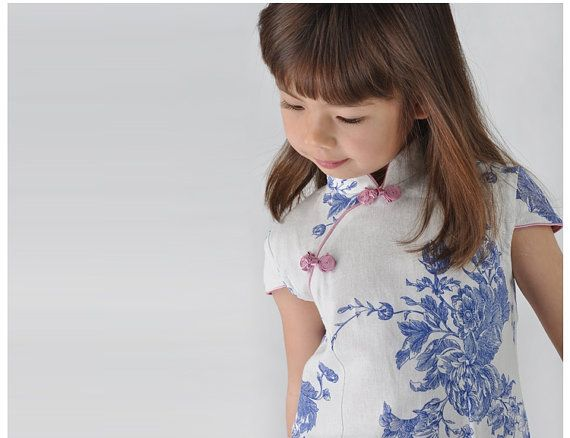 cheongsam pattern for kids casual and festival wear/one piece kids dress,chinese new year, gift, spring, valentine