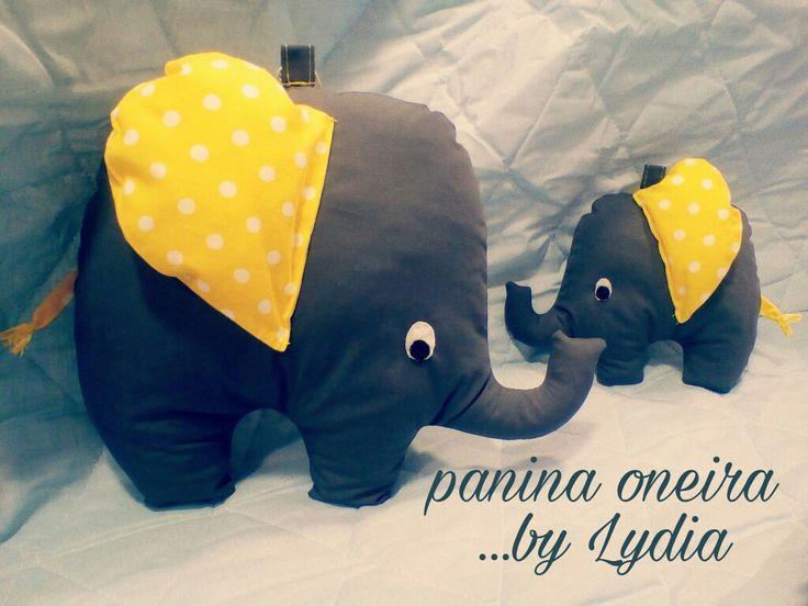Handmade elephants made of cotton fabrics!! @paninaoneira