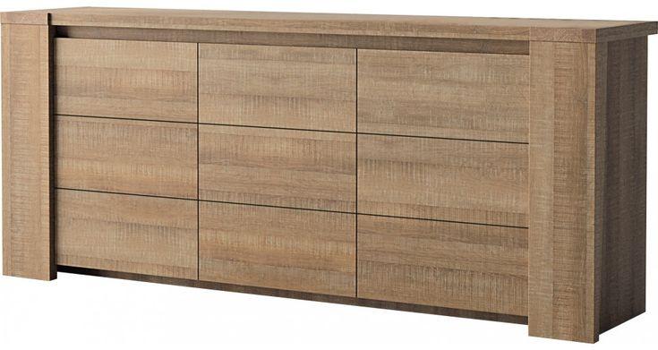 Enfilade chêne brun 3 portes DERBY prix Buffet Destock Meubles 564,00 €