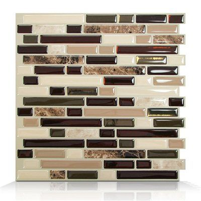 bellagio keystone self adhesive wall tile decoration made easy one of the most revolutionary and - Abnehmbare Backsplash Lowes
