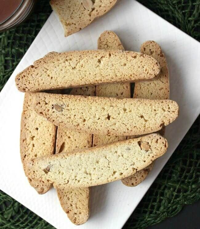 Vanilla Almond Biscotti {Starbucks Copycat} are great to dunk in hot chocolate.