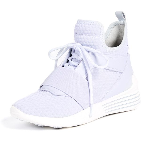 KENDALL + KYLIE Braydin Lace Up Sneakers ($135) ❤ liked on Polyvore featuring shoes, sneakers, light grey, laced up shoes, jogging sneakers, lacing sneakers, laced sneakers and round cap
