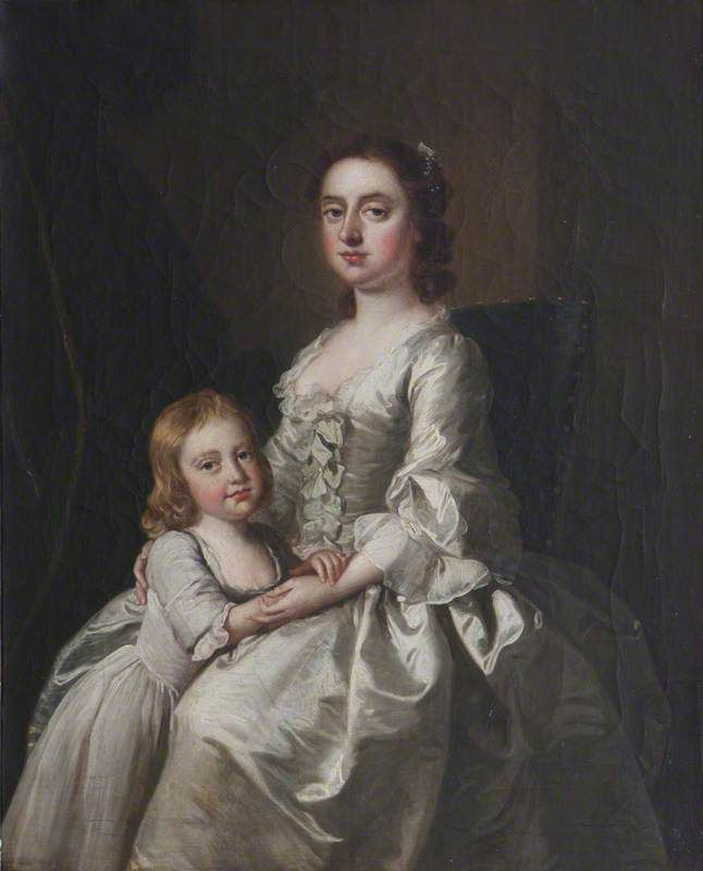 The Athenaeum - Etheldred Payne, Lady Cust, and Her Son Brownlow Cust (Thomas Hudson - ) English c 1750