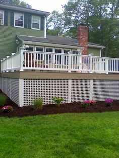 tall deck skirting - Google Search