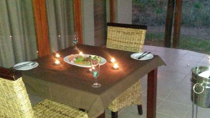 Romantic setting on our patio