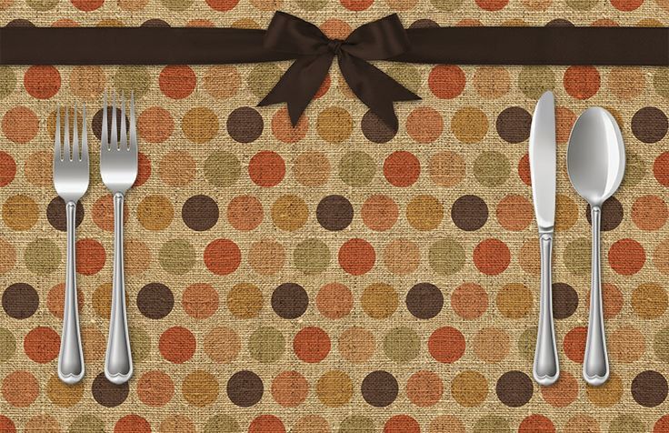 Polka Dot & Ribbon Placemat | Sussies Home