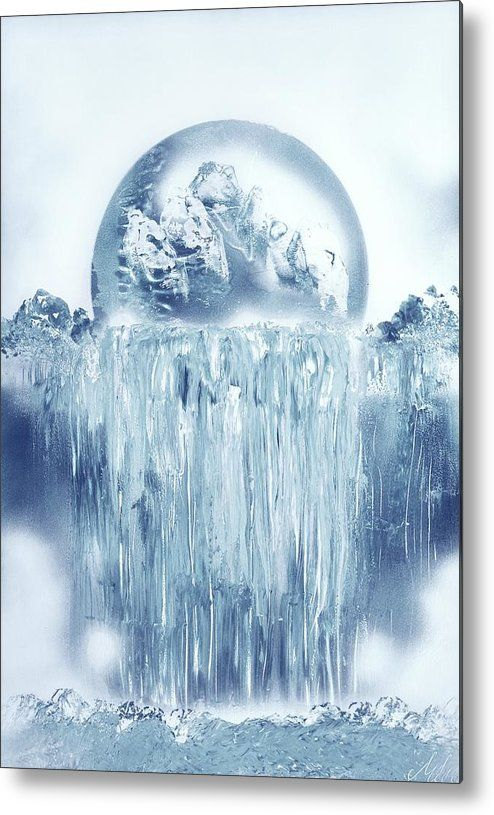 Featuring the painting Ice Waterfall by Nandor Molnar (When you visit the Shop, change the size as you wish)