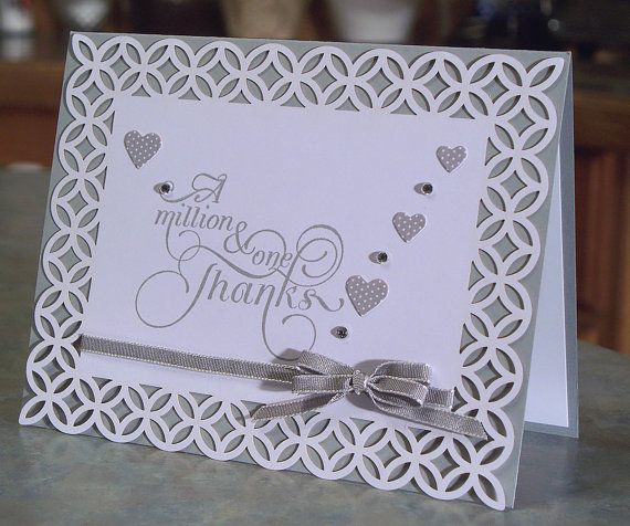 Thank You Card, Stampin' Up Million & One - New Color Smoky Slate - Free Shipping to US on Etsy, $5.50