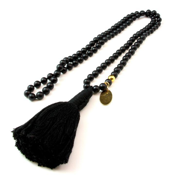 Tassel Long necklace with tassel Dlugi naszyjnik z chwostem blackstone