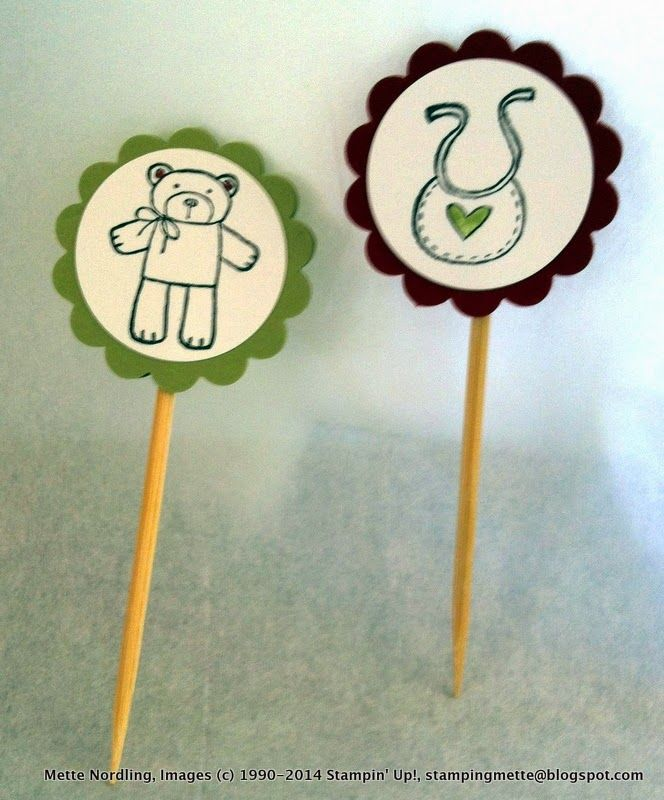 Baby shower - cup cake toppers