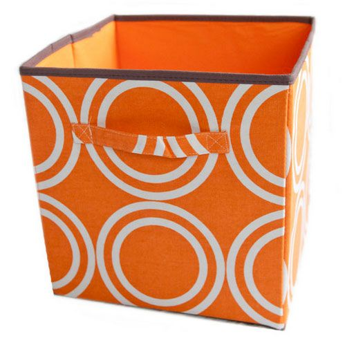 Orange Circles Box (pack of 2) AUD $39.95  The crashmat storage range is the most colourful way to keep things organised and tidy at your place.  Great for the kids room, the play room or the office.