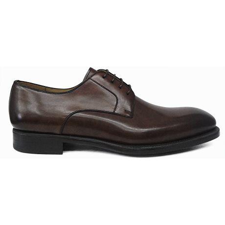 Zapato blucher liso en marrón medio difuminado de Magnanni vista lateral