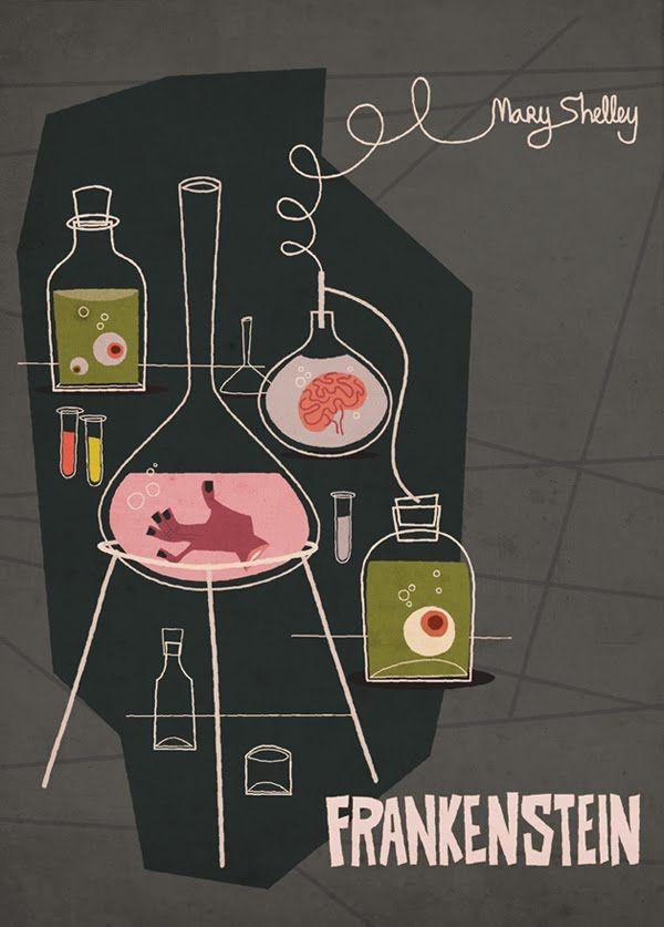 Frankenstein book cover by Kelvin Osorio
