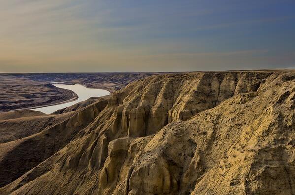 Saskatchewan is not all flat. West of Leader, Sask