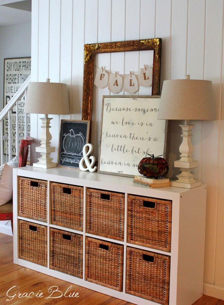 easy fall vignettes to create on a budget fachwerkh user flure und umbau. Black Bedroom Furniture Sets. Home Design Ideas