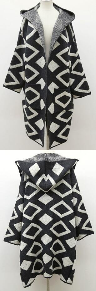 So amazing it is $52.19 Now.& Free Shipping! Love this super stylish. It features geometric pattern &  hooded design.It will be your favourite outfit.Get it in Romoti.com