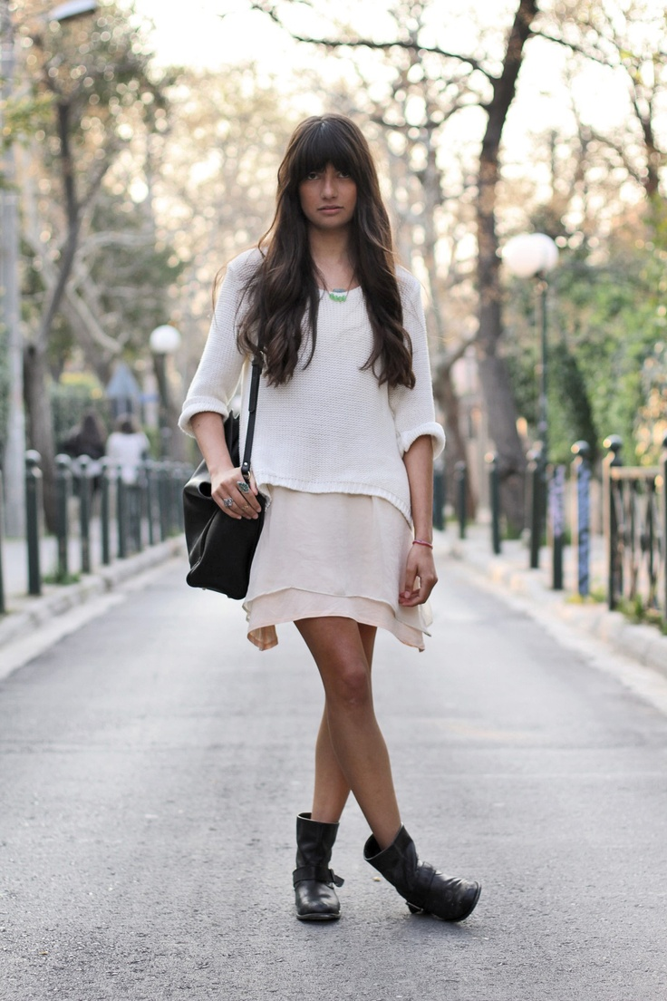 : Fashion, You, Street Style, Dress, Outfit, Hair, Boots