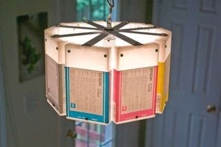 The Upcycled Lowell and Louise Ink Cartridge Lamps #diy #lighting trendhunter.com