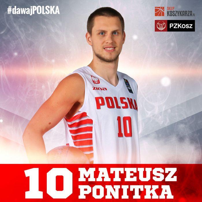 Mateusz Ponikta (#10) - rzucający obrońca / nikski skrzydłowy  Reprezentant Polski w Koszykówce