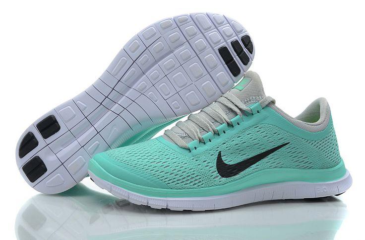 Nike Womens Shoes Nike Free 3.0 V5 Light Bluish Green-Gray