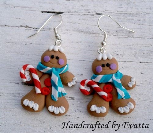 Gingerbread Earrings by EviJewelry on Etsy