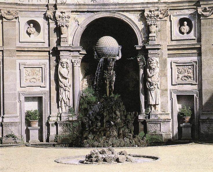 Giacomo della Porta, Atlas Fountain (detail) -  1602,  Stone and bronze,  Villa Aldobrandini, Frascati