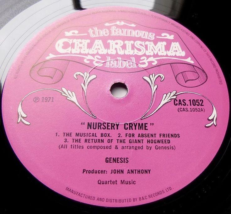 GENESIS Nursery Cryme 1971 UK CHARISMA 1st PRESS - SUPERB SOUND - EXCELLENT COPY