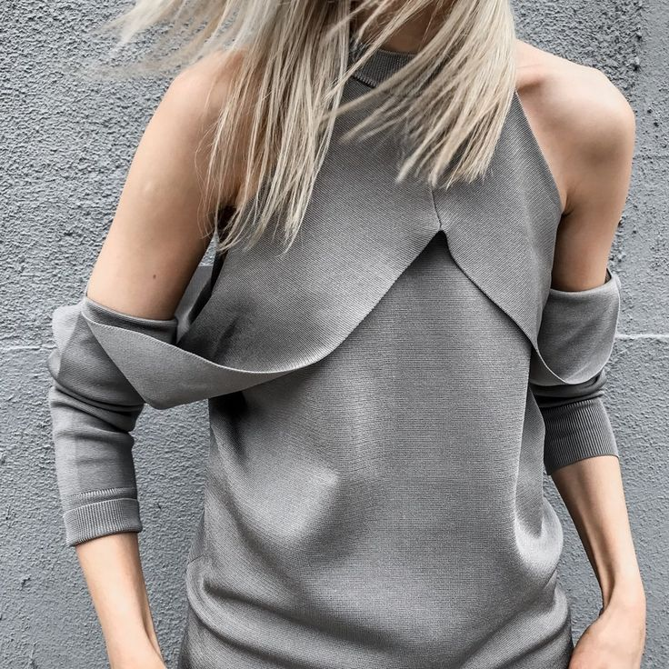 Dion Lee Taupe Sleeve Release Knit Top