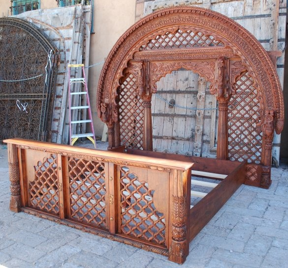 Custom Made Indian Lattice Bed made by Seret & Sons (maker from Sante Fe, NM)