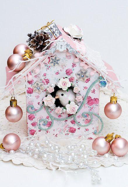 Вдохновение: Розовое Рождество. Альтер-арт. Bird House