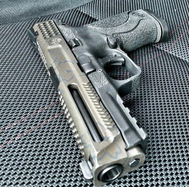 M&P Custom, pistol, guns, weapons, self defense, protection, 2nd amendment, America, firearms, munitions #guns #weapons