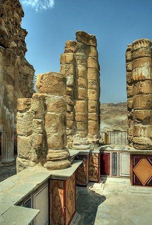 Ruins of Herod's Palace at Masada, Israel