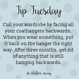 It's #tiptuesday! This is a great one for anyone who hoards clothes.  #organisation #organisation #organise #organize #home #declutter #tip #tips #tidy #organiser #organizer #professionalorganiser #professionalorganizer #homedecor #decluttering #cleanhouse #tidyhouse #lessismore #brisbanehomes #qldhomes #brisbanesmallbusiness #brisbane #qld #cleaning #dejunk #homes #interior