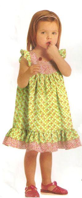 Moldes de vestido de criança