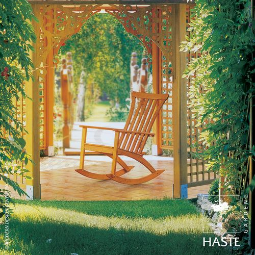 Haste Garden Grace #rocker is a step up and away from your average traditional Adirondack rocker which feels fun and young. #rockingchairs http://www.allmodernoutlet.com/haste-garden-grace-rocker/