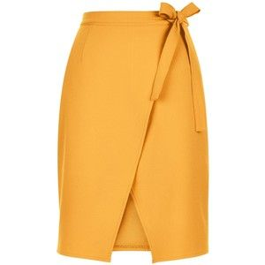 New Look Orange Tie Wrap Front Skirt