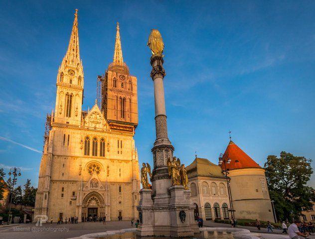 European Thursday Zagreb Cathedral Steemit Cathedral Zagreb Barcelona Cathedral