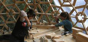 construiccion geodetische koepel