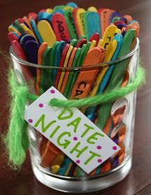 Instead of date night, I like the idea of using this to get guests at a party to make little notes/doodles for a guest book. I.e. write words such as; sunshine, water, snow, trees, happy, etc and get guests to doodle a quick pic sign it and put the stick with it in the book.