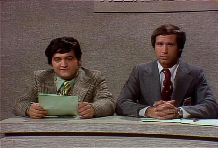 John Belushi & Chevy Chase, Weekend Update, SNL