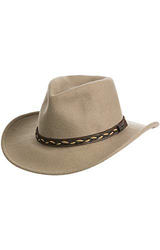 8fb949c63ba Beautiful Overland Sheepskin Co Jasper Crushable Wool Waterproof Outback Hat.    69  likeprodress from top store